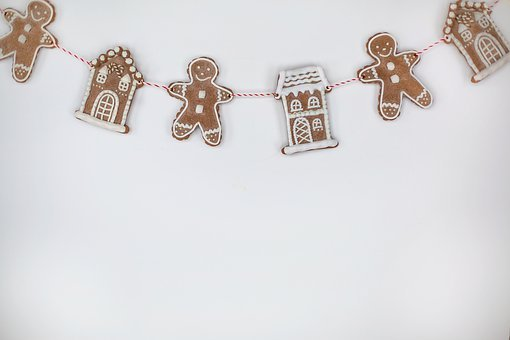Gingerbread Men, Houses, Background