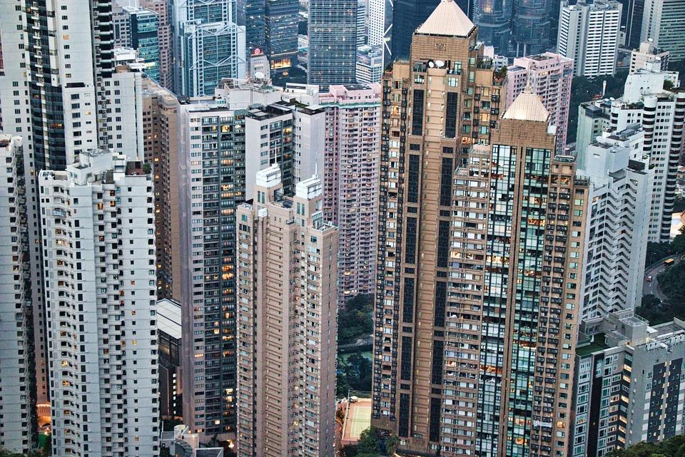City, The Skyscraper, Architecture, Townscape