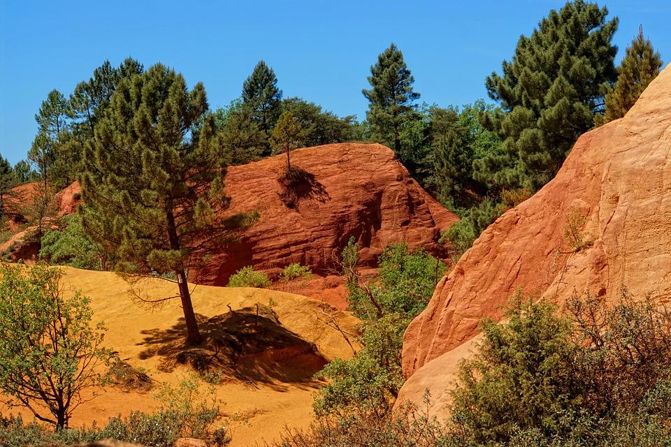 Rustrel, Roussillon, Nature, Landscape, Travel, Skirt