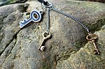 key, necklace, chain