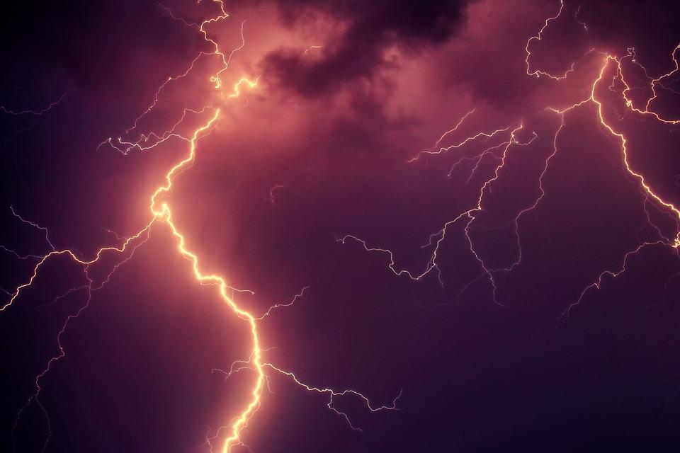 Flash, Thunderstorm, Thunderbolt, Thunder, Clouds, Sky