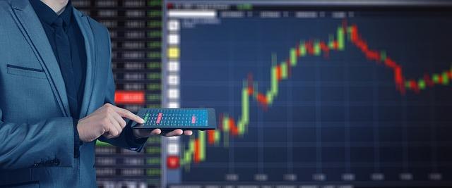 証券取引所, 利益, ブーム, 実業家, タブレット, コンピューター, コントロール, 経済, シンボル