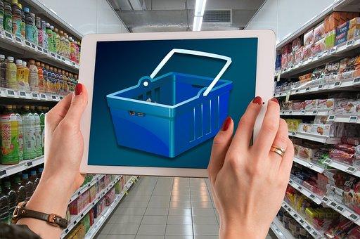 Estante, Acciones, Supermercado