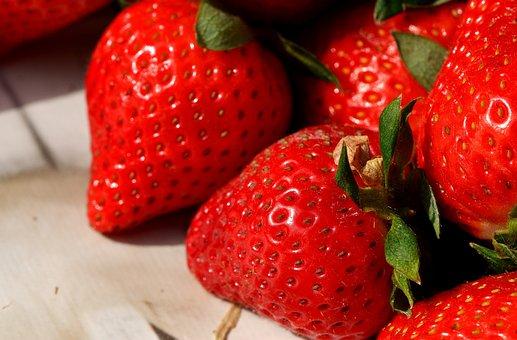 イチゴ, おいしい, フルーツ, 食品, 果物, 甘い, 食べる, クローズ