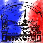 paris, flag