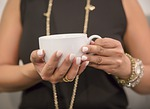 woman, hand, coffee cup