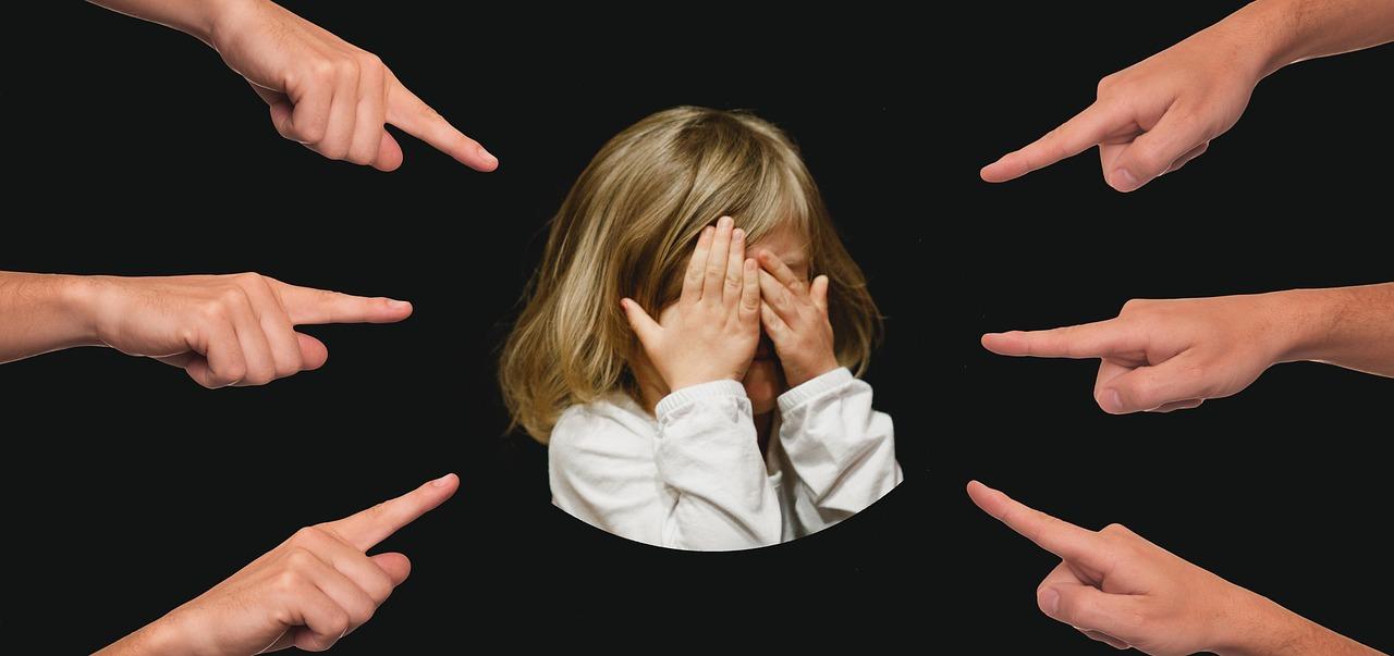いじめ, 子, 指, 提案します, 同定された患者, 表示, 離婚, 圧力, 負荷, 恐怖, オーバー ロード