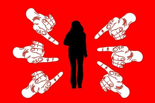 Woman, Bullying, Stress, Finger, Suggest, Shame, Guilt, Blame