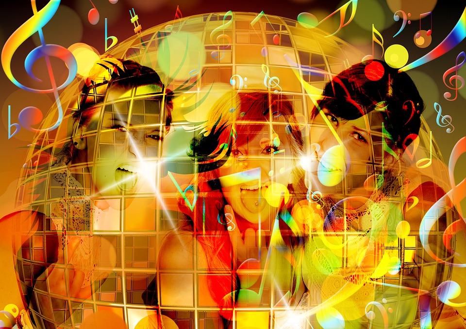 Silhouette, Girl, Dance, Party, Disco, Nightclub