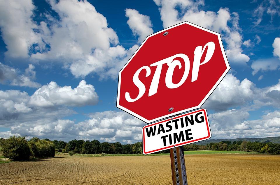 Detener, Tiempo, Residuos, Anuncios, Diciendo, Conjunto