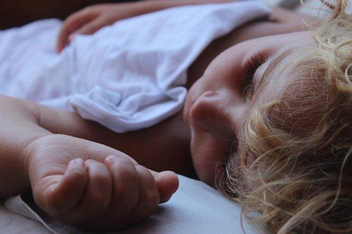 Child, Baby, Sleep, Blanket, Bed, Family
