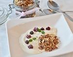 muesli, breakfast, glass