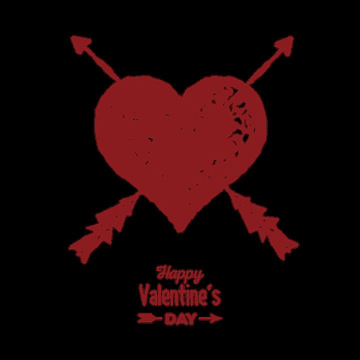 Valentinstag, Herz, Rot Herz, Herz Mit Einem Pfeil