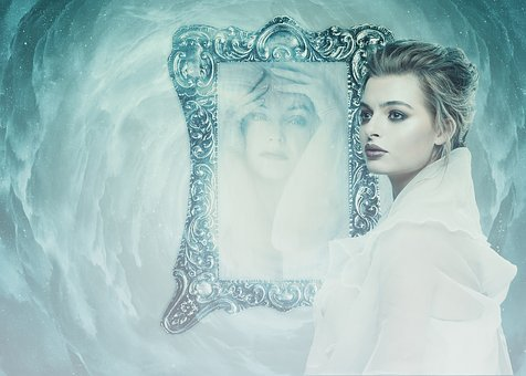 Woman, Mirror, Psyche, Depression