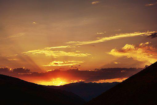 Sunset, Dawn, Panoramic, Solar, Sky