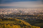 panoramic, city, cityscape
