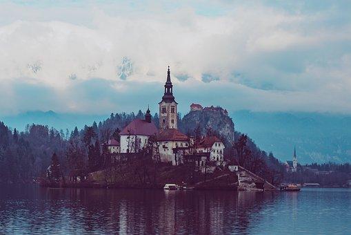 Bled, Slovenia, Europe, Church