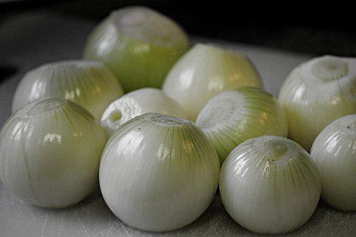 Onions, Peeled, Food, Vegetables