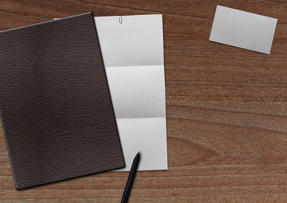 Paper, Business Card, Coolie, Pen, Office Table