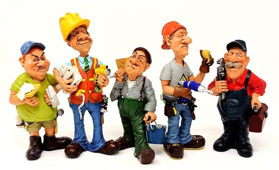 職人, サイト, 労働者, 力, 数字, おかしい, Diy, 建設作業, 仕事