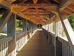 pedestrian bridge, covered, truss