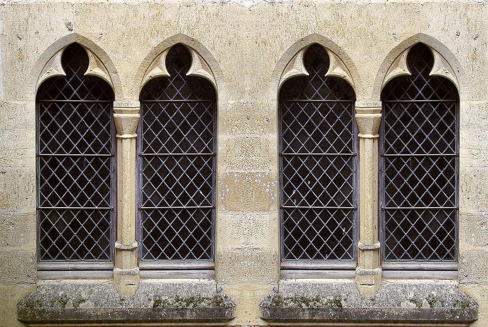 Architecture Gothic Stone Facade Building Castle