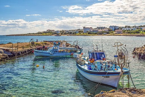 Cyprus, Protaras, Fishing Shelter, Boats