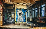 graffiti, ruin