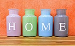 home, at home, vases