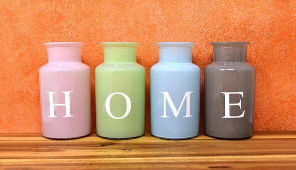 Home, At Home, Vases, Colorful, Glass