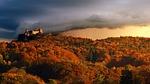 panorama, sunset, travel