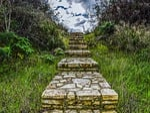 stairs, stone