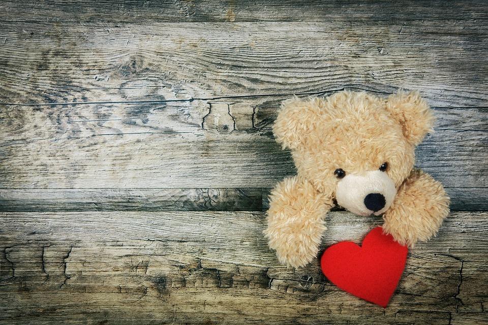 心, 愛, ロマンス, 愛情, 母の日, バレンタインデー, ベアー, テディー ・ ベア, かわいいクマ