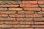 red brick, wall, exterior