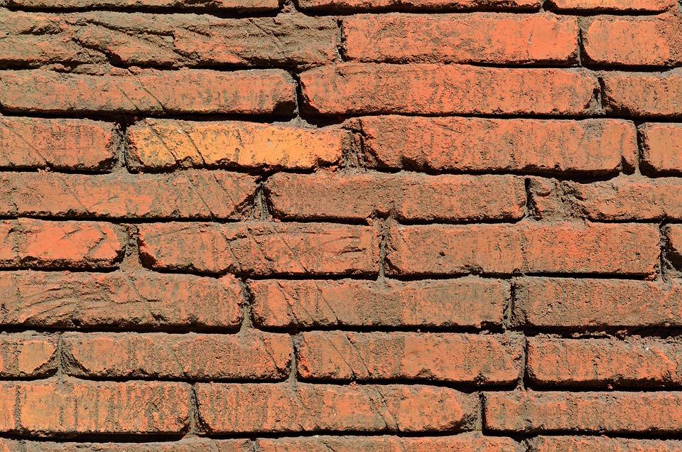 Briques Rouges Mur Extérieur Arrière Plan