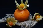 orange, physalis, fruit