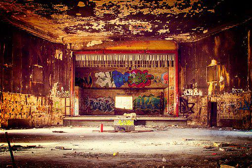 Theater, Hall, Lost Places