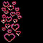 heart, transparent, love