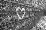 graffiti, wall, heart