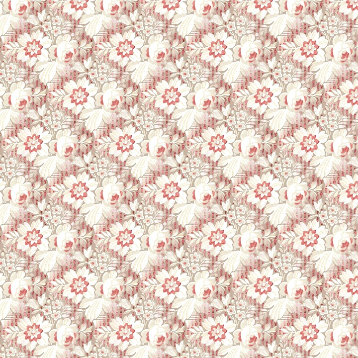 Floral Pattern Seamless Vintage Decorative Antique Public Domain