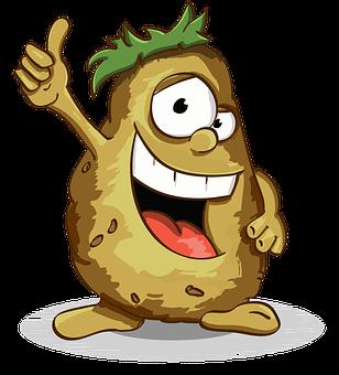 Potatoes, Smile, Thumbs Up