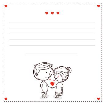 カードの愛好家, カップル, 心, 赤, ハーツ, 手と手を, 幸せなカップル