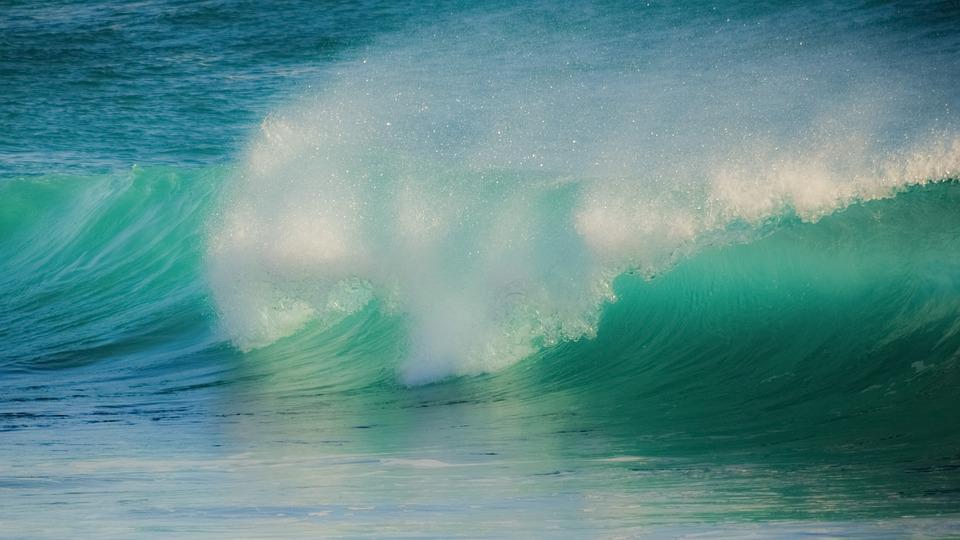 Surf, Sea, Nature, Ocean, Water, Turquoise, Spray, Wind