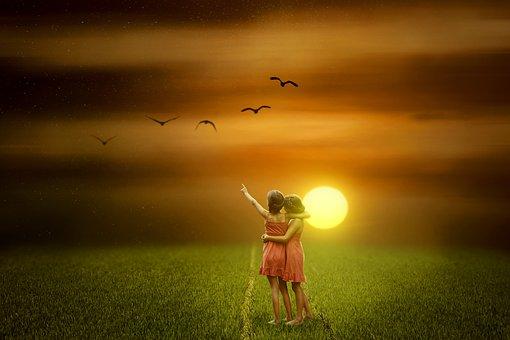 Pôr Do Sol, Natureza, Sol, Campo