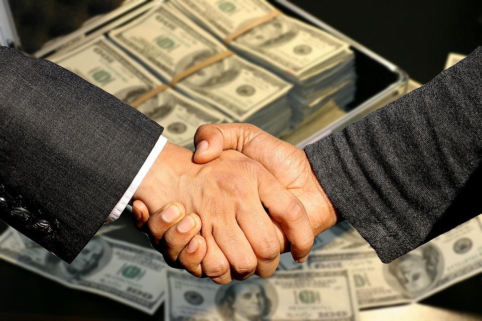 合同的订立, 握手, 贸易, 业务, 利润, 肮脏的钱, 控制, 财政部, 出售, 购买, 卖出, 商业