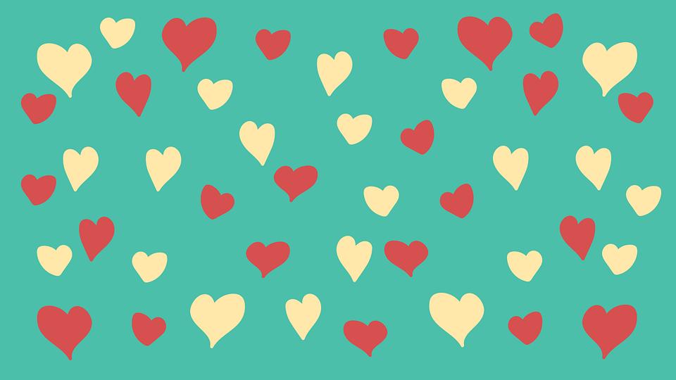 Love Heart Set Seamless Pattern Wallpaper