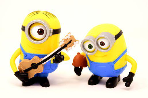 Minions Guitar, Music, Funny, Figures