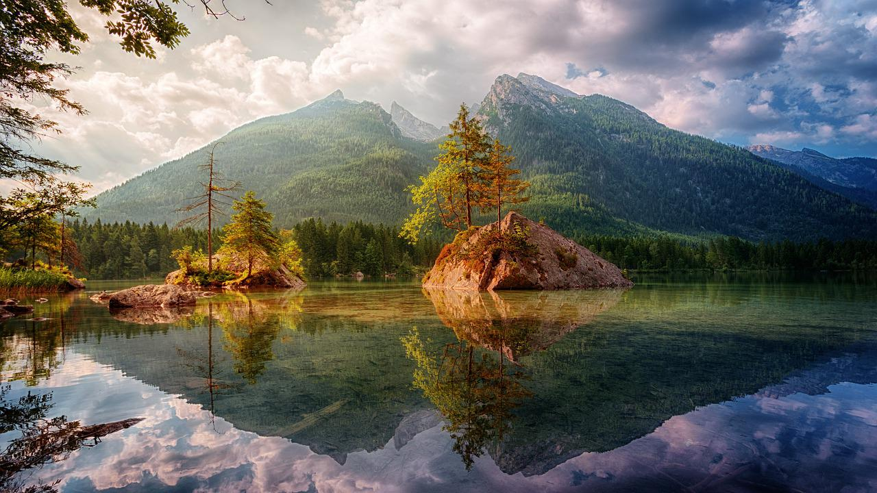 nature landscape of mountains and a lake
