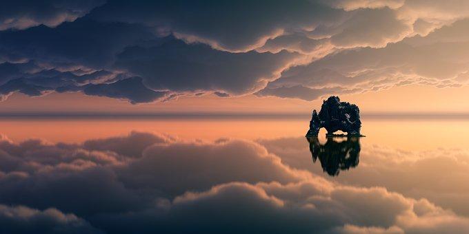 Ηλιοβασίλεμα, Ουρανό, Αυγή, Σύννεφα