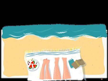 Sommer, Urlaub, Meer, Freude, Beine